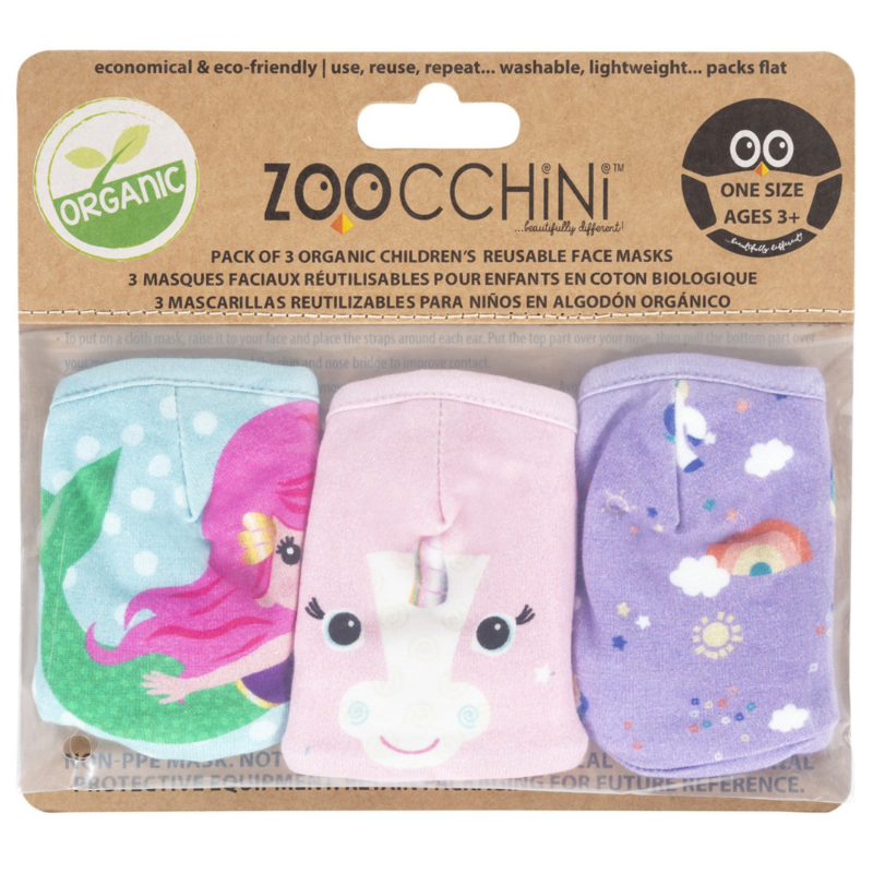 Zoocchini Zoocchini Organic Face Masks (3 PK)