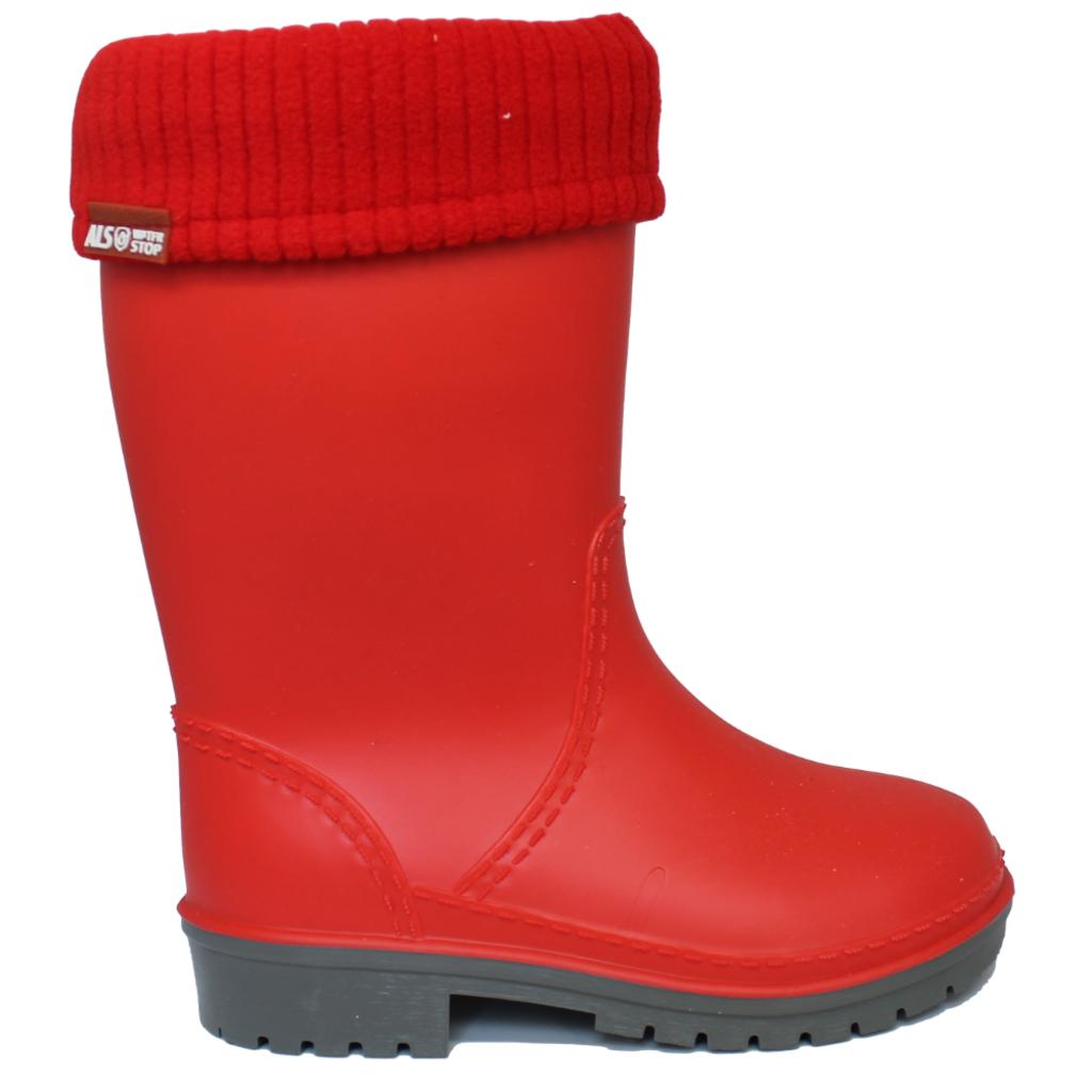 Alisa Alisa Lined Rainboot Red Matte
