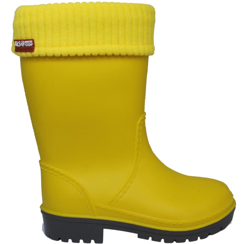 Alisa Alisa Lined Rainboot Yellow Matte