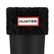 Hunter Hunter Kids Cable Boot Sock Black
