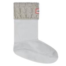 Hunter Hunter Kids Cable Boot Sock Pale Grey