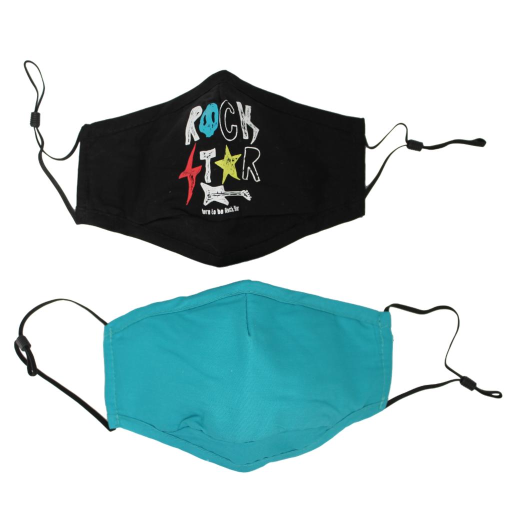 Bond Street Children's Mask 2-Pack Rock Star O/S