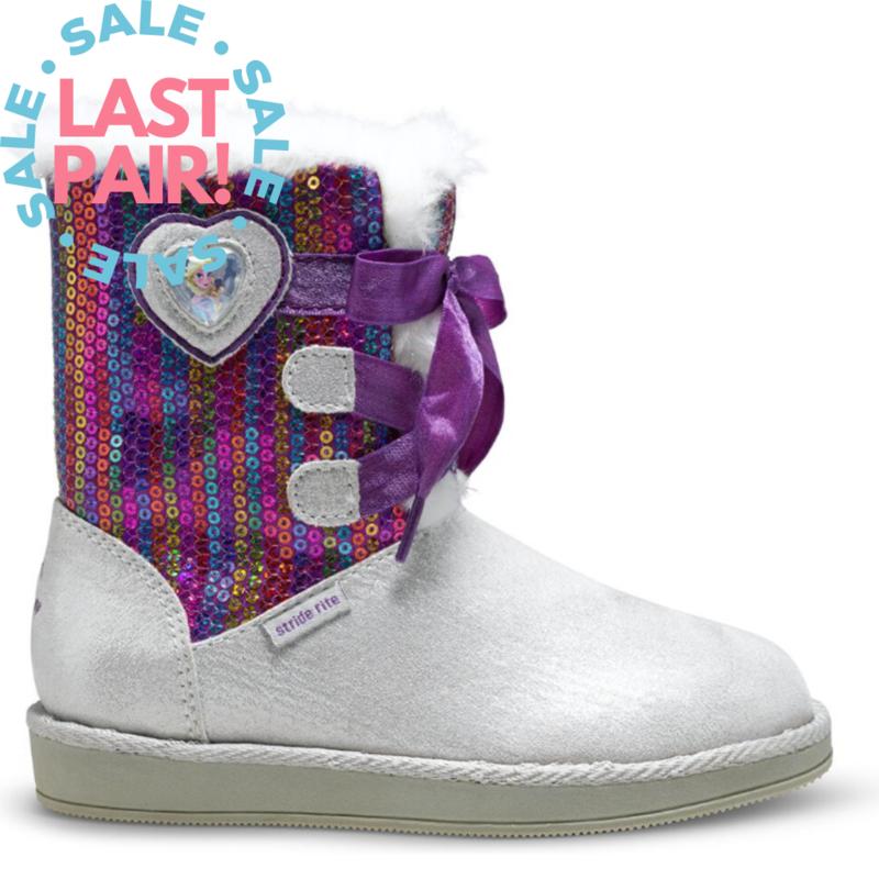 Stride Rite Stride Rite Frozen Cozy Boot Silver/Purple (Child 11 .5 + 13)