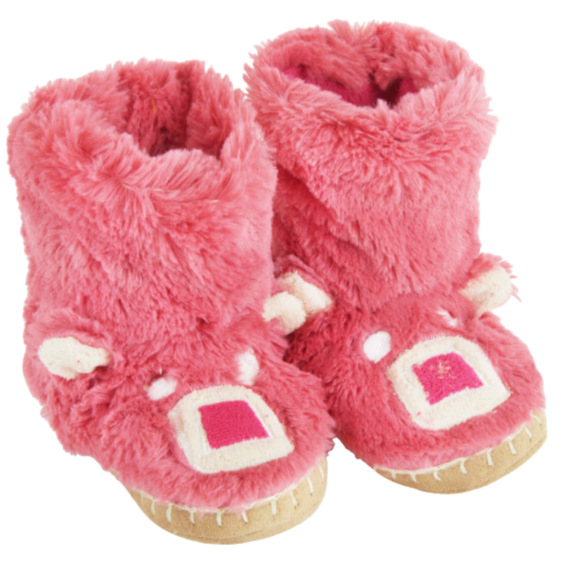 Little Blue House Little Blue House Pink Bear Slippers