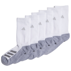 Adidas Adidas Youth Cushion Crew Sock White (6PK) Shoe Size 13 - 4
