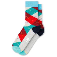 Fun Socks Fun Socks 3PK Holiday Crew Red/Green