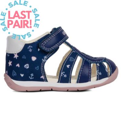 Geox Geox B Each Sandal Navy/Pink (Toddler 22)