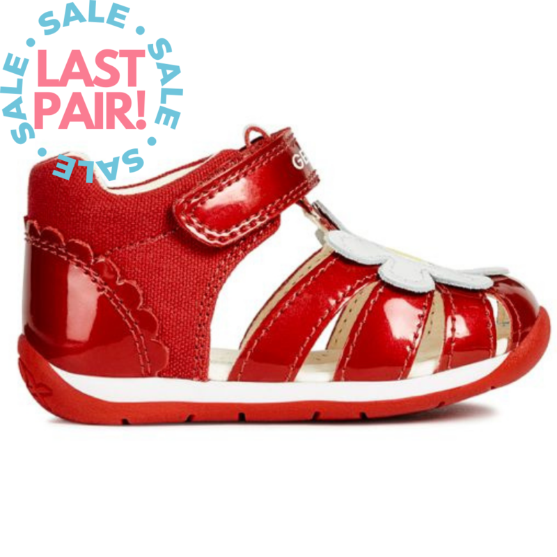 Geox Geox B Each Sandal Red/White (Toddler 19, 21, 24 + 25)