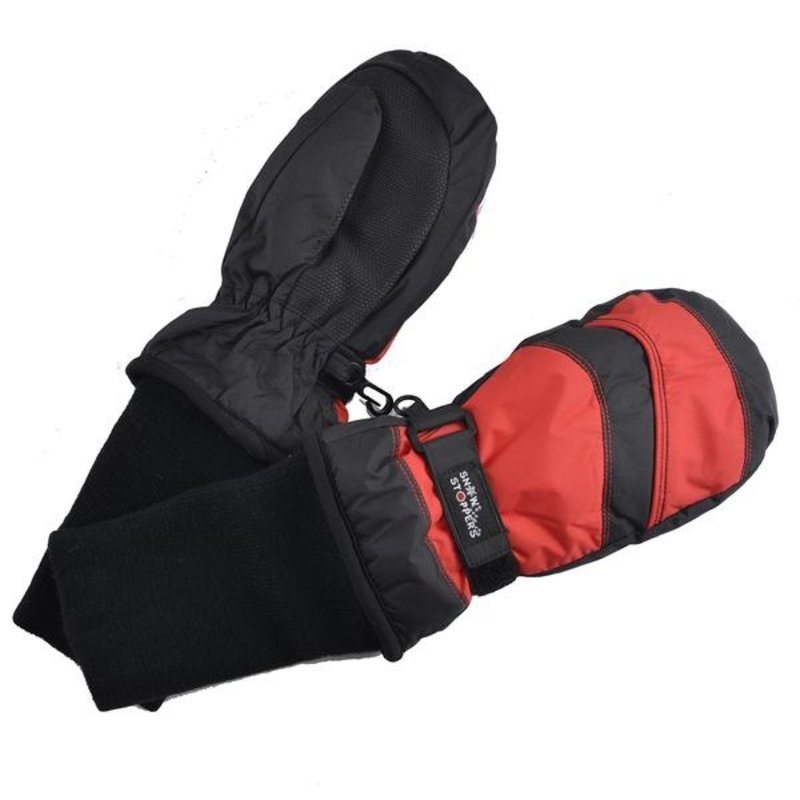 Snow Stoppers SnowStoppers Mittens Black/Red
