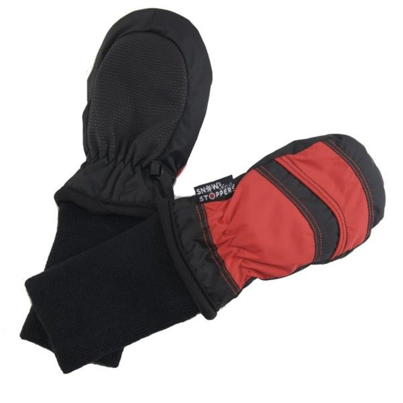Snow Stoppers SnowStoppers Mittens Black/Red XS (6M - 18M)