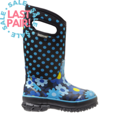 Bogs Bogs Classic Flower Dots Teal (Child 1)