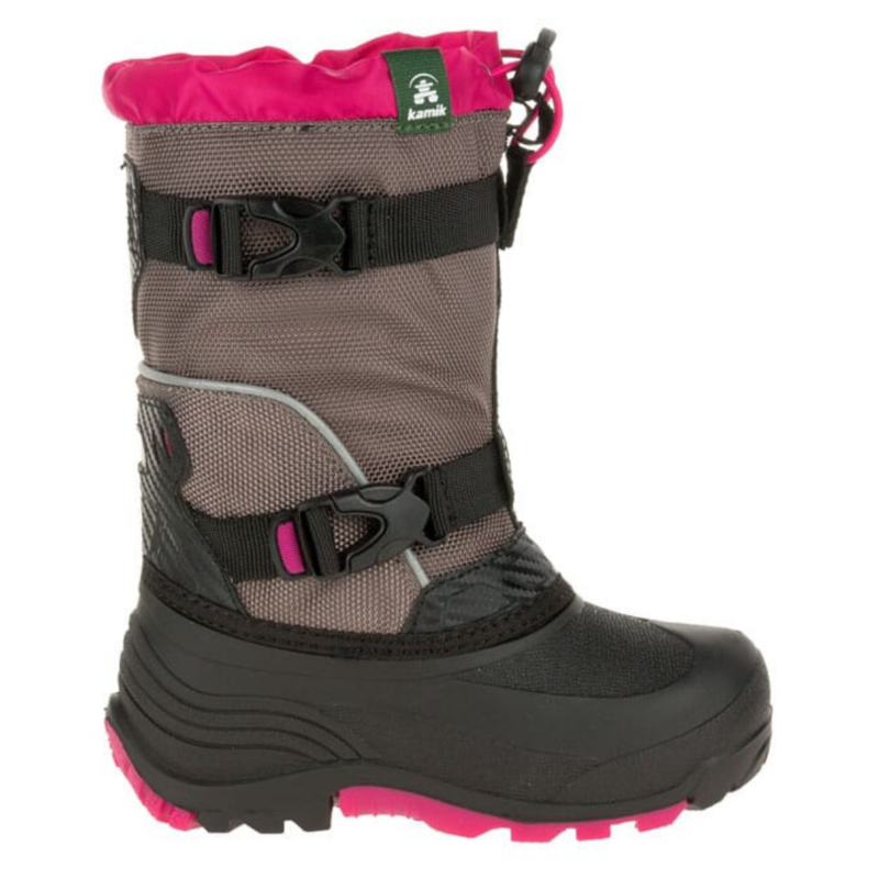 Kamik Kamik Glacial3 Charcoal/Pink Youth 7
