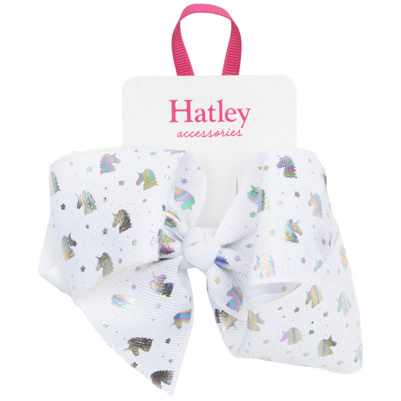 Hatley Hatley Metallic Unicorns Bow Hair Clip