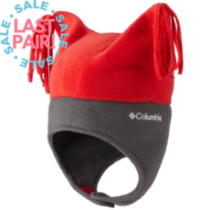 Columbia Columbia Infant Pigtail Hat Red/Gray (6-24M)