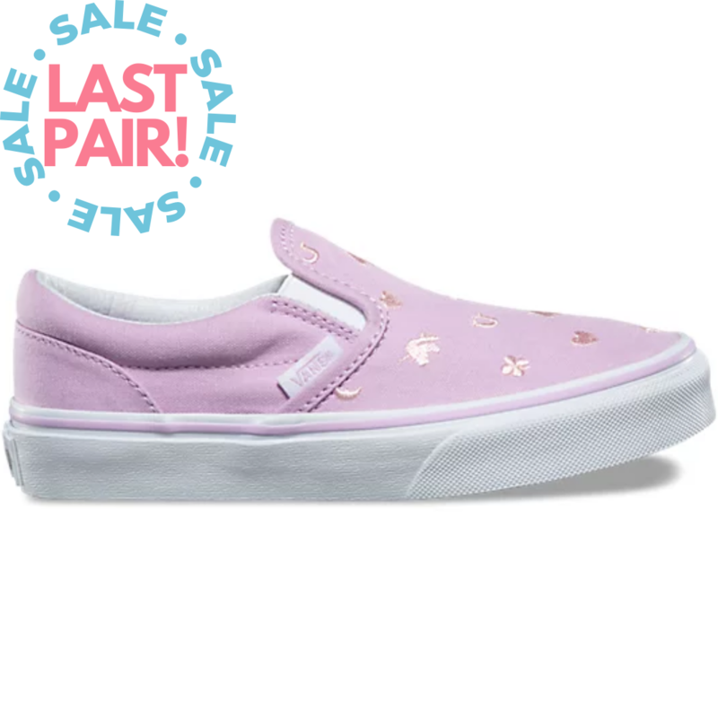 Vans Vans Classic Slip On Embroidered Charms Orchid (Child 12)