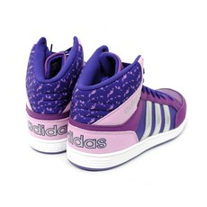 Adidas Adidas Hoops Mid K Purple/Silver (Child 13)