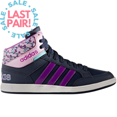 Adidas Adidas Hoops Mid K Collegiate Navy/Shocking Purple