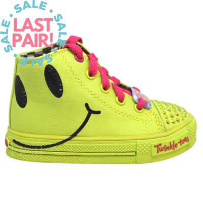 Skechers Skechers S Lights Shuffles Neon Yellow (Toddler 7)