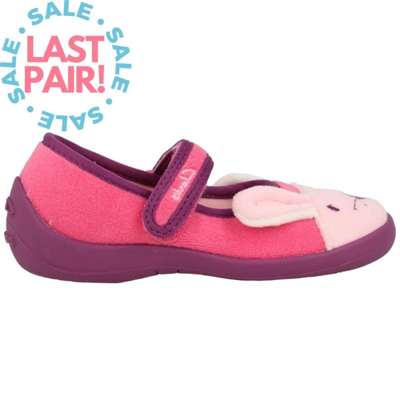Clarks Hatter Sleep Slipper Pink (Toddler 8.5)