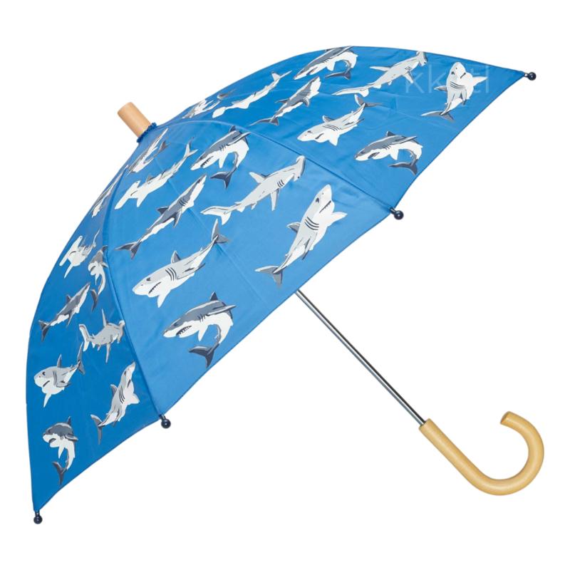 Hatley Hatley Colour Changing Umbrella  Deep Sea Sharks Blue