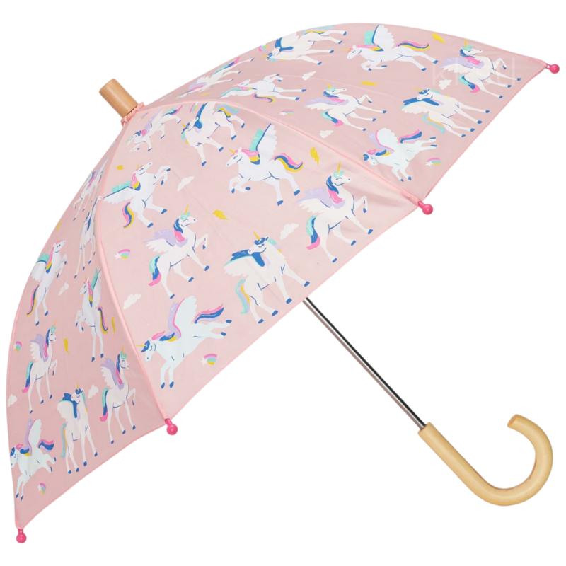 Hatley Hatley Colour Changing Umbrella Magical Pegasus Pink