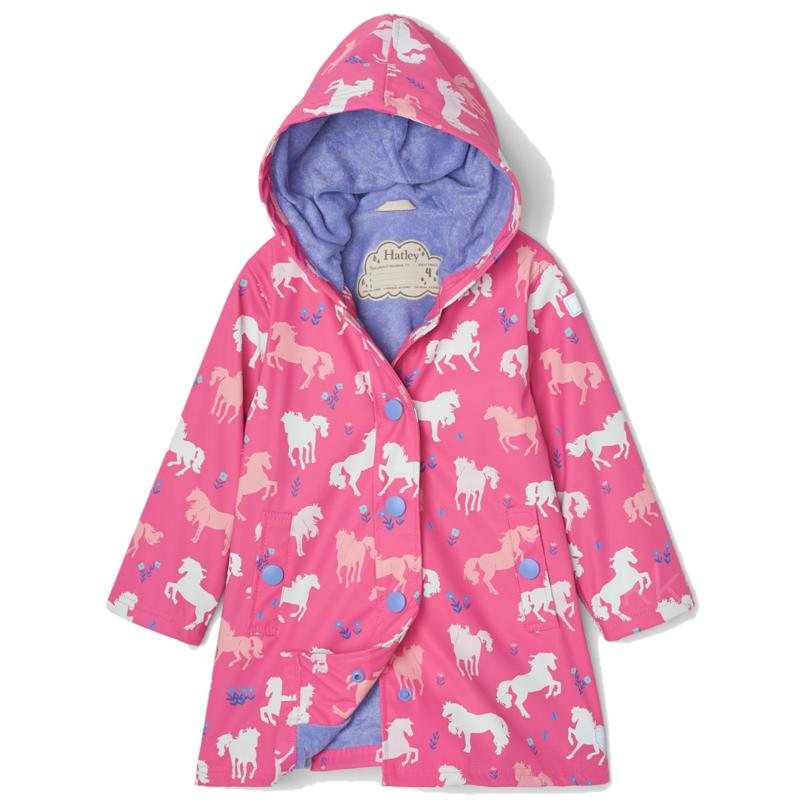 Hatley Hatley Colour Changing Splash Jacket Painted Pasture Pink