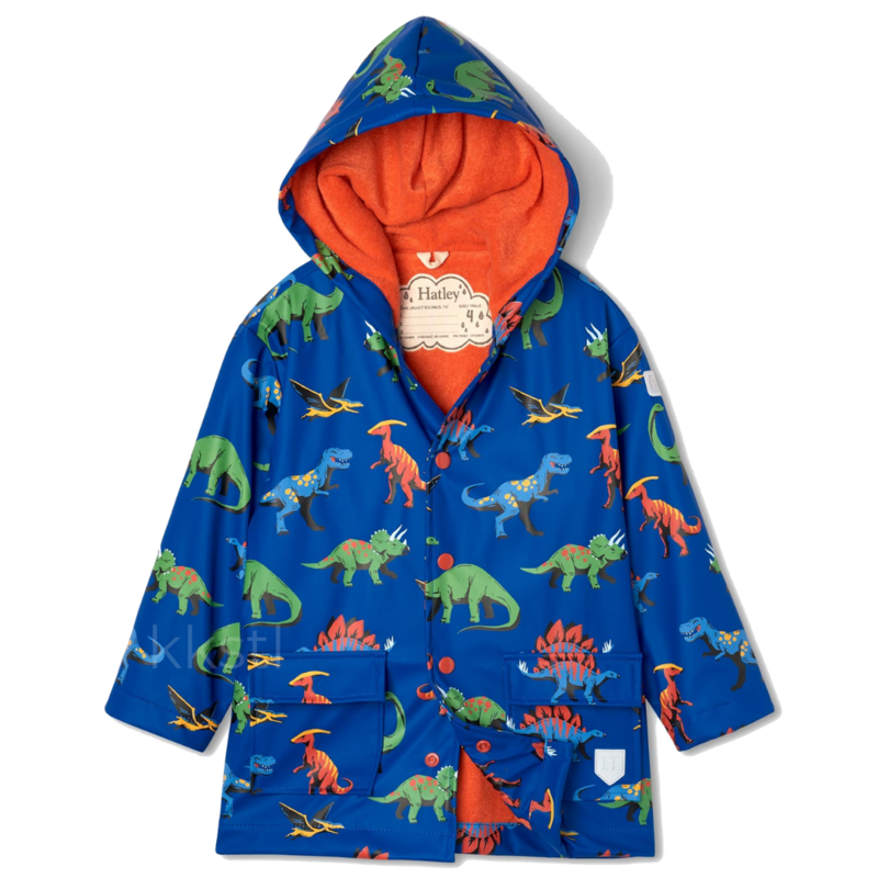 Hatley Hatley Friendly Dinos Raincoat Blue
