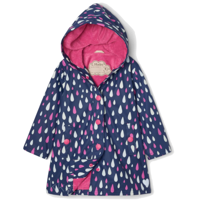 Hatley Hatley Colour Changing Splash Jacket Raindrops