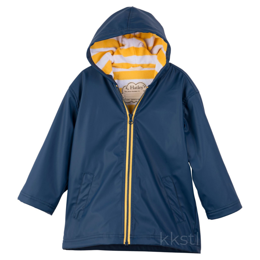 Hatley Hatley Splash Jacket Navy/Yellow