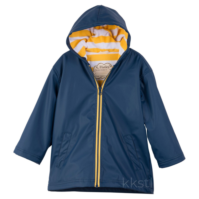 Hatley Hatley Splash Jacket Navy/Yellow