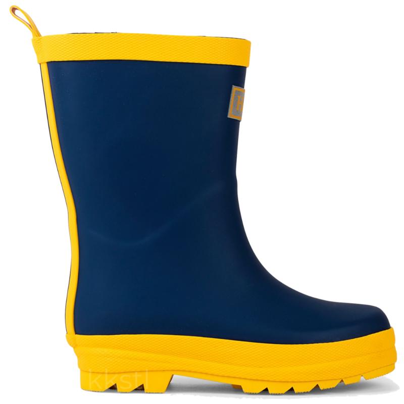 Hatley Hatley Navy & Yellow Matte Rain Boots