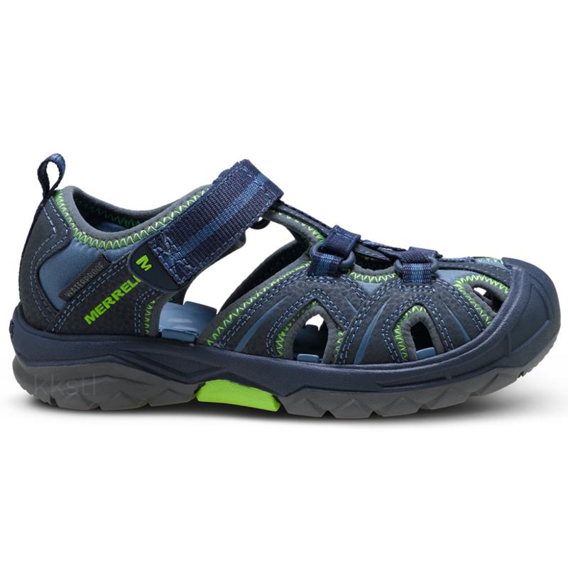 Merrell Merrell Hydro Hiker Sandal Navy/Green Youth 7