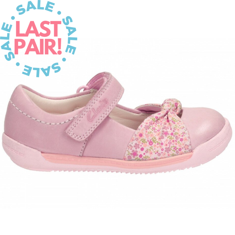 Clarks Softly Nia Fst Pink (Toddler 6 + 6.5)