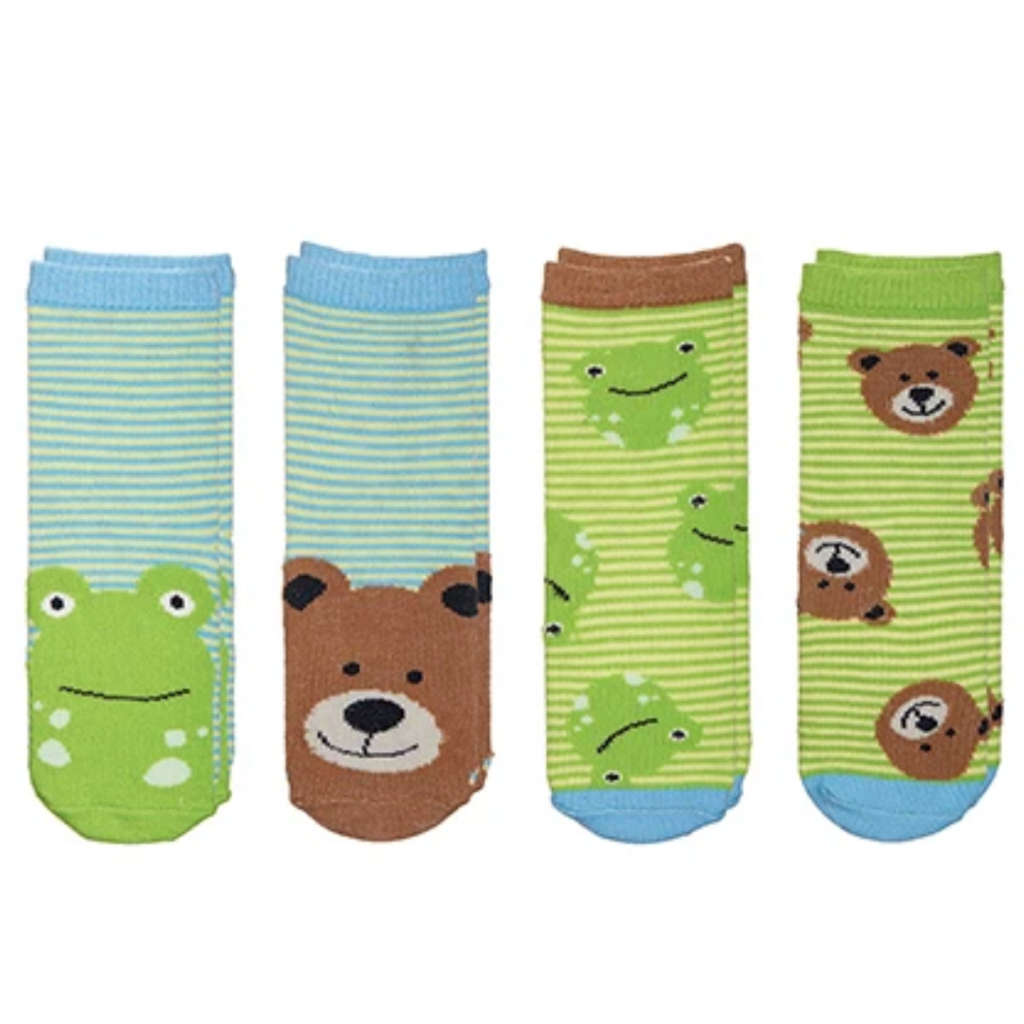 Flapjacks Flapjacks Sock Safari Bear/Frog (4PK) 4 - 8.5