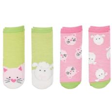 Flapjacks Flapjacks Sock Safari Kitten/Lamb (4PK) 4 - 8.5