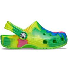 Crocs Crocs Classic Graphic Tie Dye Neon Green