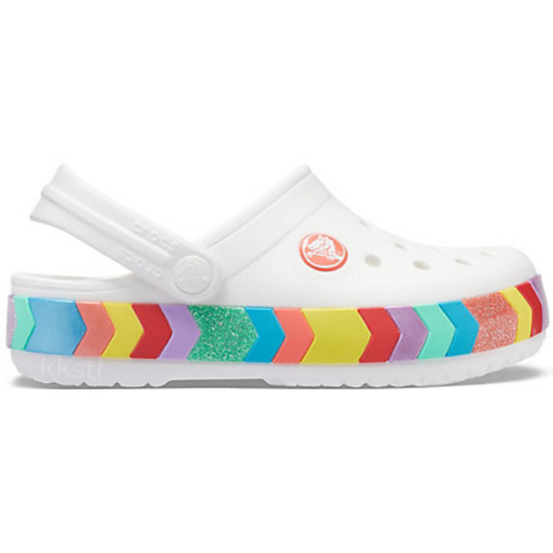 Crocs Crocs Kids Crocband Chevron Beaded Clog White