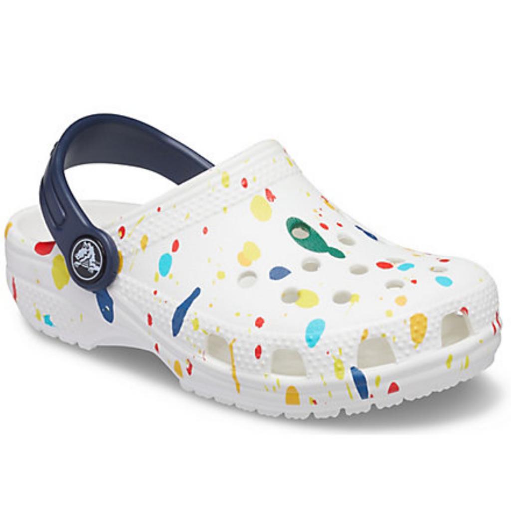 Crocs Crocs Kids Classic Clog Splatter Print White