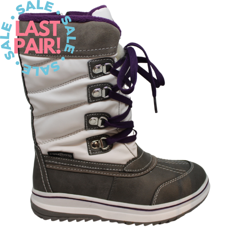 Ryder Boot White/Grey/Purple (Child 13)