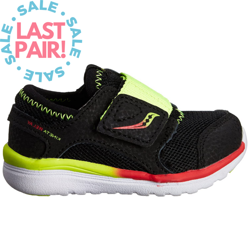 Saucony Saucony Baby Kineta Black/Citron/Red (Toddler 6 + 6.5)
