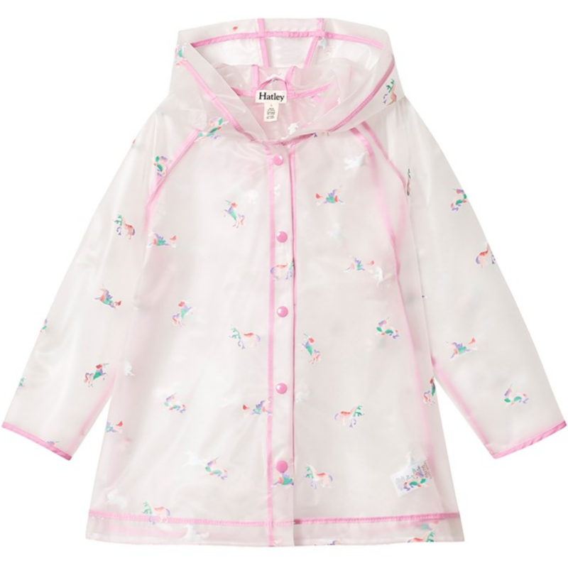 Hatley Hatley Rainbow Unicorns Raincoat Clear