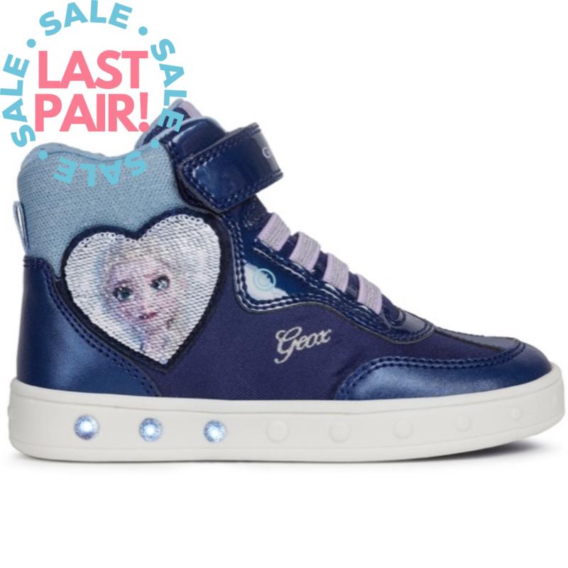 Geox Geox J Skylin Frozen Navy/Lilac (Toddler 8.5)