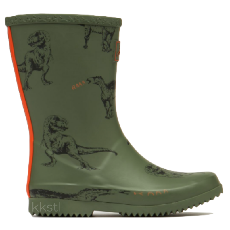 Joules Joules Roll Up Welly Green Dinos