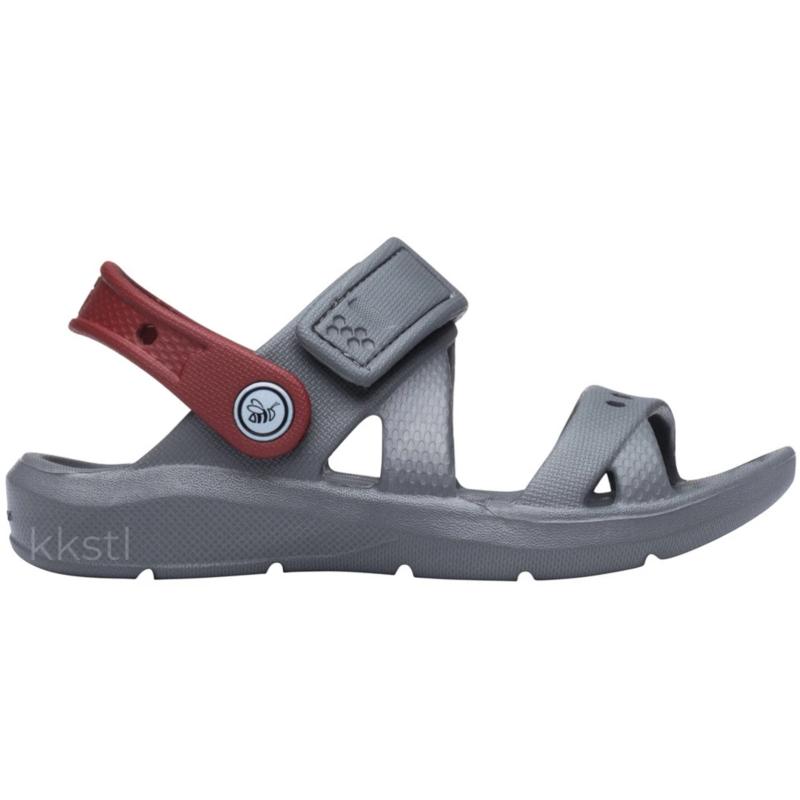 Joybees Joybees Kids' Adventure Sandal Charcoal/Red