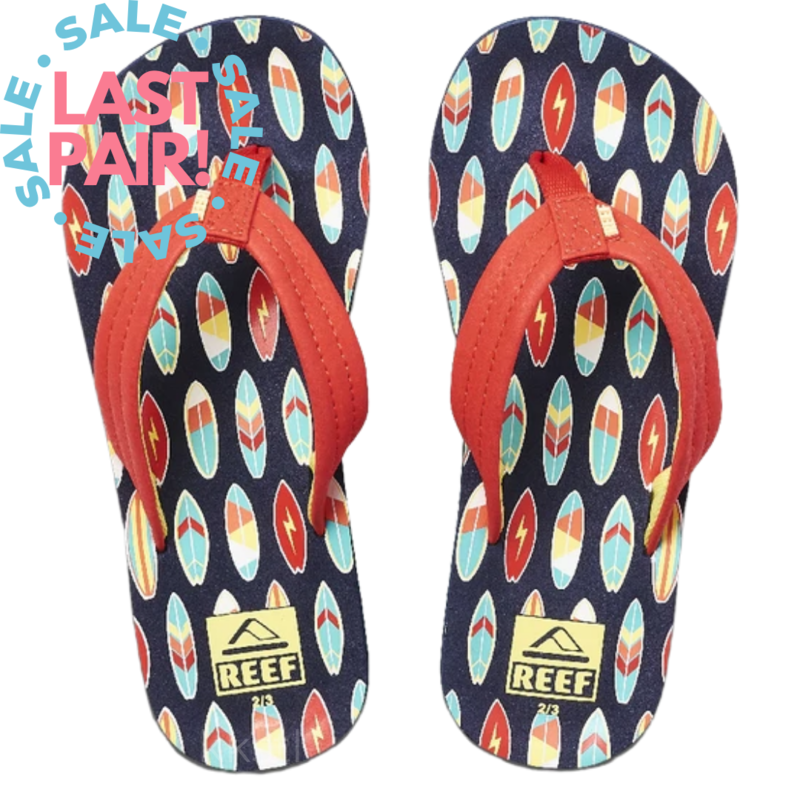 Reef Reef AHI Red Surfer (Toddler 5/6; Youth 4/5)