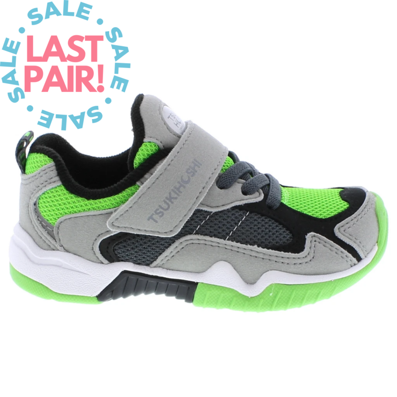 Tsukihoshi Tsukihoshi Blast Grey/Green (Toddler 8.5)