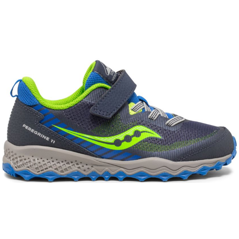 Saucony Saucony Peregrine 11 Shield A/C Blue/Green Youth 6.5 + 7