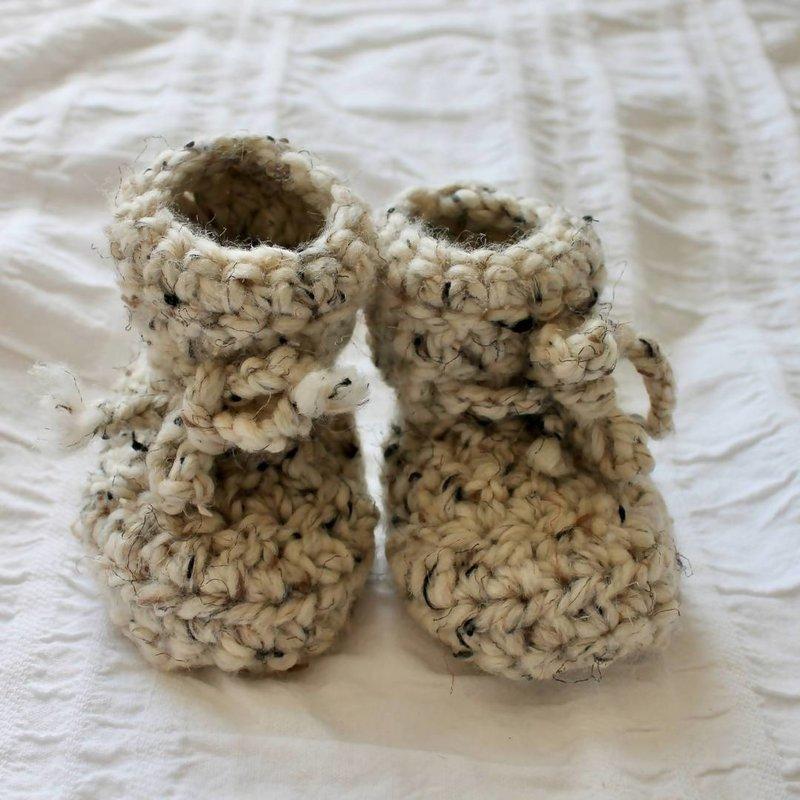 Juno Crochet Juno Lambskin Slippers Oatmeal