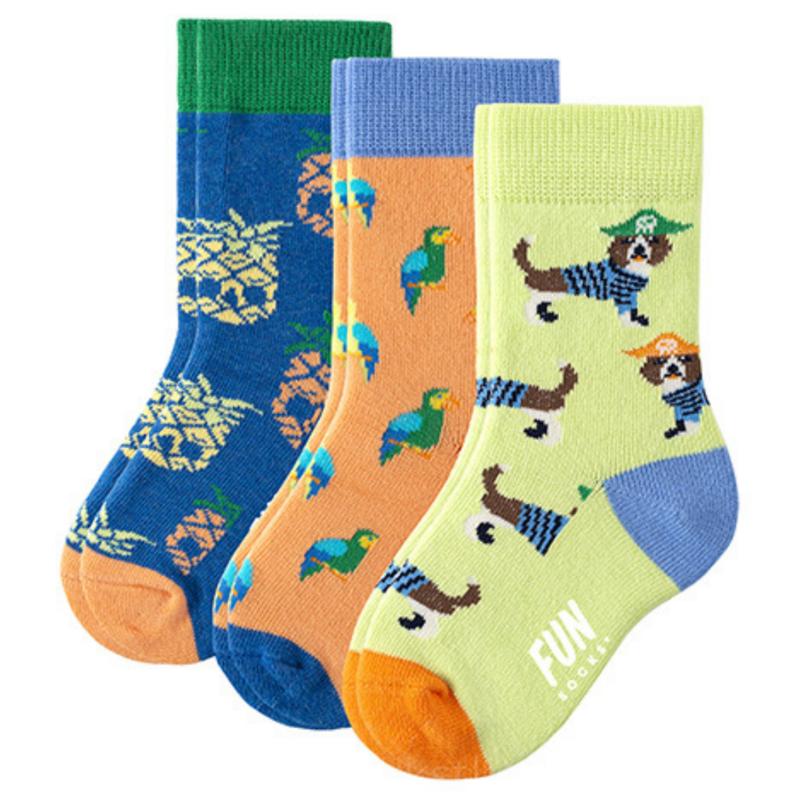 Fun Socks Fun Socks 3PK Pirate Crew