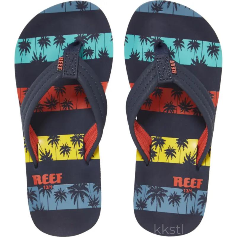 Reef Reef Ahi Navy Palms Youth 6/7